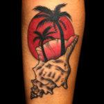 color tattoo, beach tattoo, shelltattoo, beachscenetattoo, palmtreetattoo, conchshell, conchshelltattoo, tropicaltattoo, tattoo, tattoos, tat, tats, tatts, tatted, tattedup, tattoist, tattooed, tattoooftheday, inked, inkedup, ink, amazingink, bodyart, tattooig, tattoosofinstagram, instatats#larktattoo, larktattoos, larktattoowestbury, westbury, longisland, NY, NewYork, usa, art, heathermartinowens