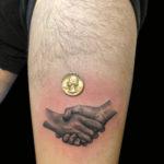 bng, bngtattoo, blackandgraytattoo, blackandgreytattoo, bnginksociety, realistic, realistictattoo, realism, realismtattoo, handshake, handshaketattoo, handtattoo, legtattoo, thightattoo, tattoo, tattoos, tat, tats, tatts, tatted, tattedup, tattoist, tattooed, inked, inkedup, ink, tattoooftheday, amazingink, bodyart, tattooig, tattoosofinstagram, instatats , larktattoo, larktattoos, larktattoowestbury, westbury, longisland, NY, NewYork, usa, art , lance, levine, lancelevine