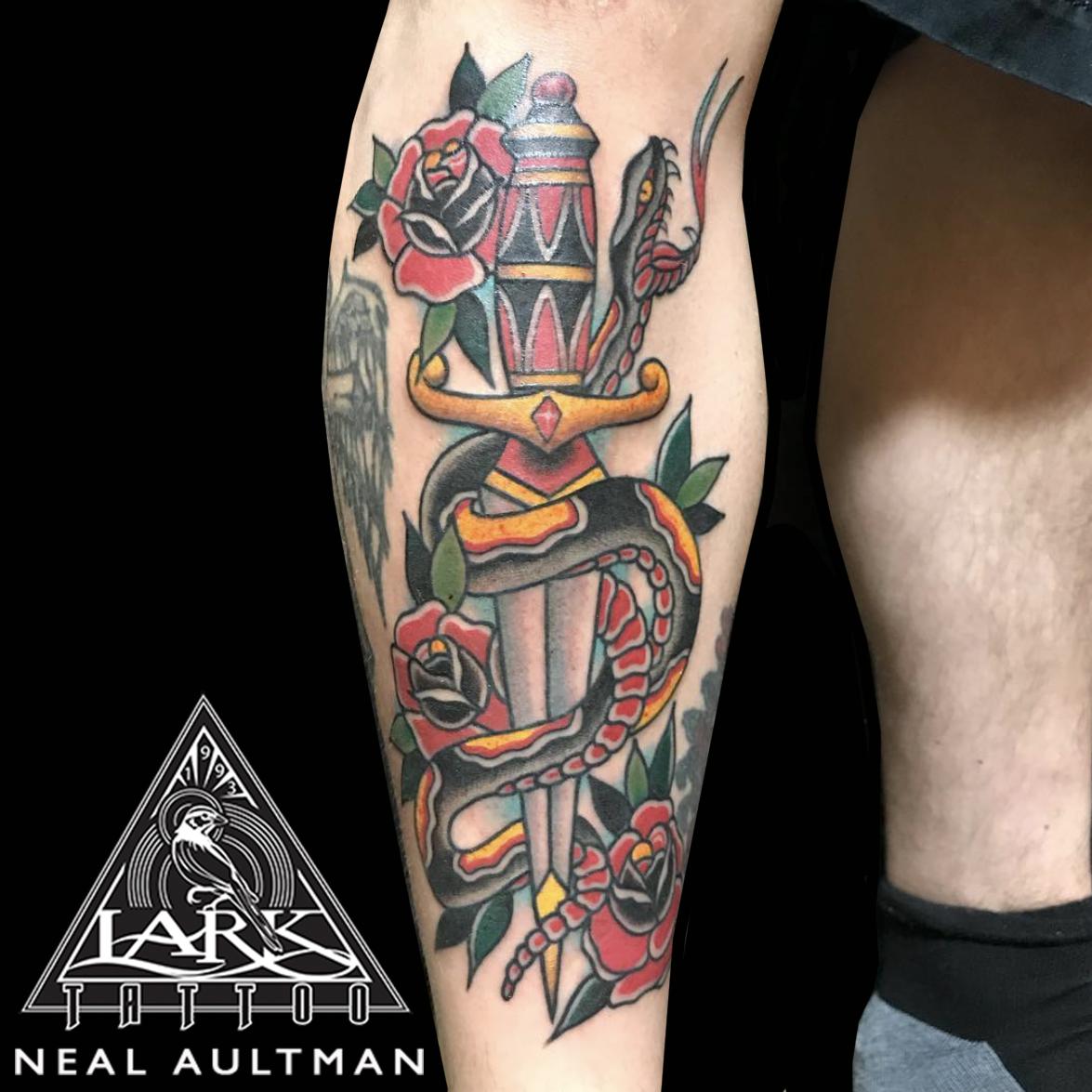 #colortattoo #traditional #traditionaltattoo #dagger #daggertattoo #snake #snaketattoo #traditionaldagger #traditionaldaggertattoo #traditionalsnake #traditionalsnaketattoo #traditionaltattooartist #legtattoo #rose #rosetattoo #traditionalrose #traditionalrosetattoo #tattoo #tattoos #larktattoo #tat #tats #tatts #tatted #tattedup #tattoist #tattooed #inked #inkedup #ink #tattoooftheday #amazingink #bodyart #tattooig #tattoosofinstagram #instatats #larktattoos #larktattoowestbury #westbury #longisland #NY #NewYork #usa #art