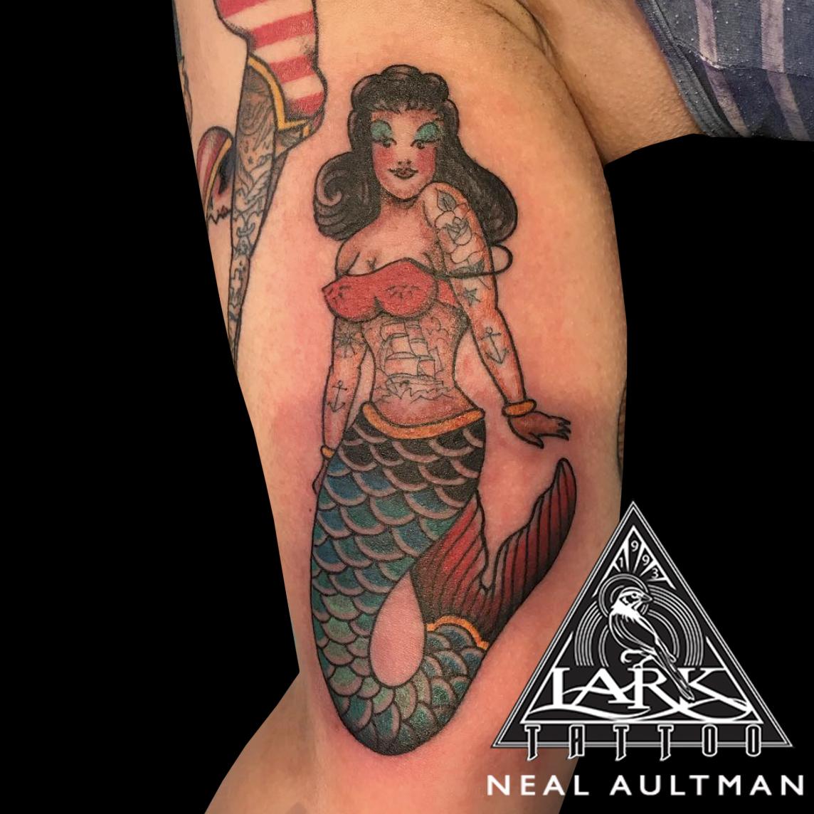 #traditional #traditionaltattoo #colortattoo #mermaid #mermaidtattoo #traditionalmermaid #traditionalmermaidtattoo #armtattoo #biceptattoo #tattoo #tattoos #tat #tats #tatts #tatted #tattedup #tattoist #tattooed #inked #inkedup #ink #tattoooftheday #amazingink #bodyart #tattooig #tattoosofinstagram #instatats #larktattoo #larktattoos #larktattoowestbury #westbury #longisland #NY #NewYork #usa #art #neal #aultman #nealaultman