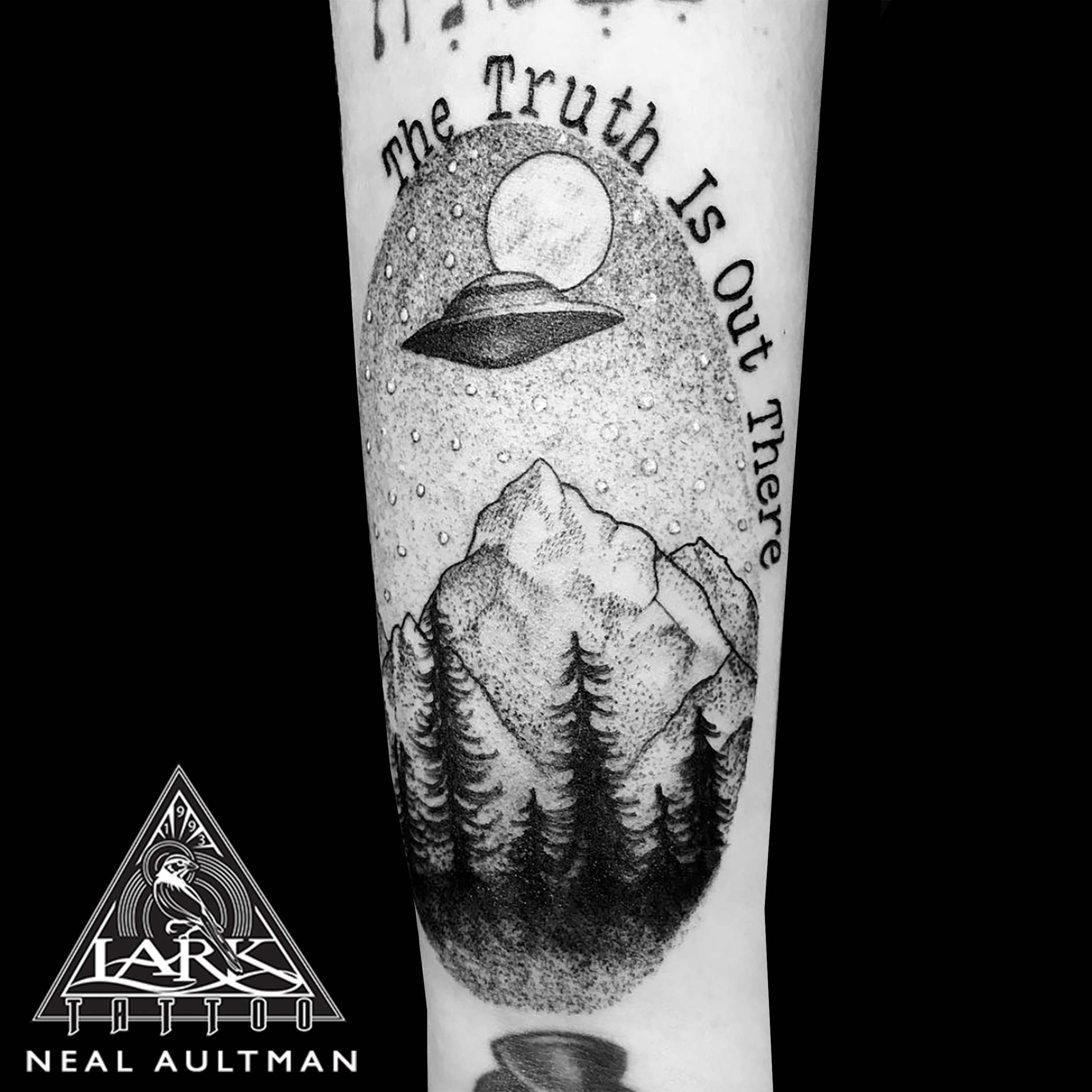 #xfiles #xfilestattoo #ufo #ufotattoo #ufomountainscene #ufomountainscenetattoo #mountains #mountainstattoo #thetruthisoutthere #thetruthisouttheretattoo #linesanddots #linesanddotstattoo #blackandgreytattoo #blackandgreytattoo #tattoo #tattoos #tat #tats #tatts #tatted #tattedup #tattoist #tattooed #inked #inkedup #ink #tattoooftheday #amazingink #bodyart #tattooig #tattoosofinstagram #instatats #larktattoo #larktattoos #larktattoowestbury #westbury #longisland #NY #NewYork #usa #art #neal #nealaultman #nealaultmantattoo #nealaultmanlarktattoo