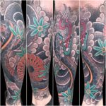 #Japanese #JapaneseTattoo #ColorTattoo #AsianTattoo #Geometric #GeometricTattoo #snake #snaketattoo #tattoo #tattoos #tat #tats #tatts #tatted #tattedup #tattoist #tattooed #inked #inkedup #ink #tattoooftheday #amazingink #bodyart #tattooig #tattoosofinstagram #instatats #larktattoo #larktattoos #larktattoowestbury #westbury #longisland #NY #NewYork #usa #art #matt #ellis #mattellis #mattcellis