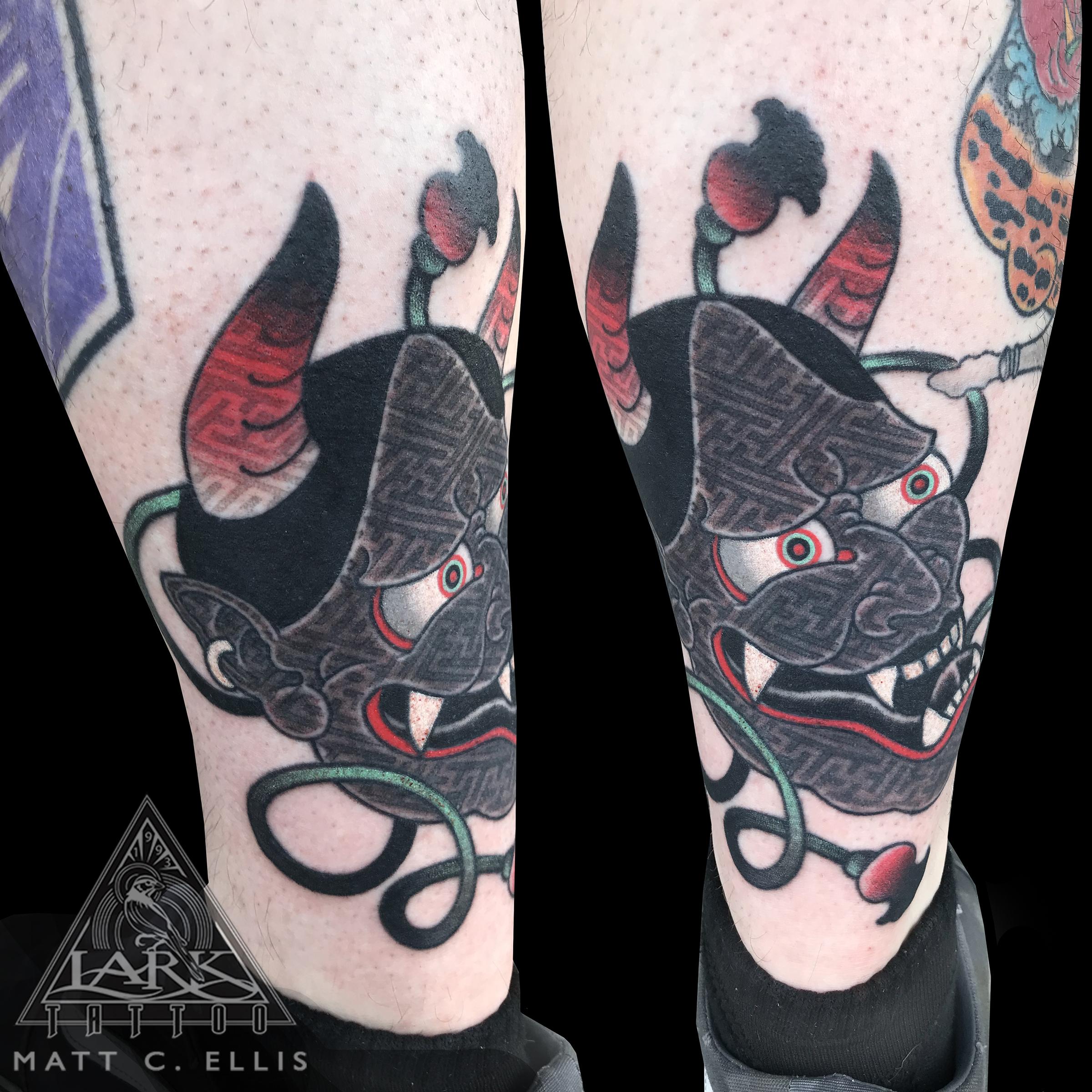 #colortattoo #Japanese #Japanesetattoo #oni #onitattoo #onimask #onimasktattoo #devil #deviltattoo #devilmask #devilmasktattoo #Japanesefolklore #Japanesefolkloretattoo #geometric #geometrictattoo #tattoo #tattoos #tat #tats #tatts #tatted #tattedup #tattoist #tattooed #inked #inkedup #ink #tattoooftheday #amazingink #bodyart #tattooig #tattoosofinstagram #instatats #larktattoo #larktattoos #larktattoowestbury #westbury #longisland #NY #NewYork #usa #art