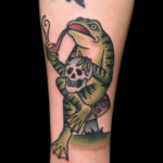 traditionaltattoo colortattoo frogtattoo