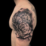 #bng #bngtattoo #blackandgraytattoo #blackandgreytattoo #bngink #bnginksociety #rose #roses #rosetattoo #rosestattoo #pocketwatch #pocketwatchtattoo #armtattoo #halfsleeve #halfsleevetattoo #realistictattoo #realismtattoo #clocktattoo #watchtattoo #tattoo #tattoos #tat #tats #tatts #tatted #tattedup #tattoist #tattooed #inked #inkedup #ink #tattoooftheday #amazingink #bodyart #tattooig #tattoosofinstagram #instatats #larktattoo #larktattoos #larktattoowestbury #westbury #longisland #NY #NewYork #usa #art