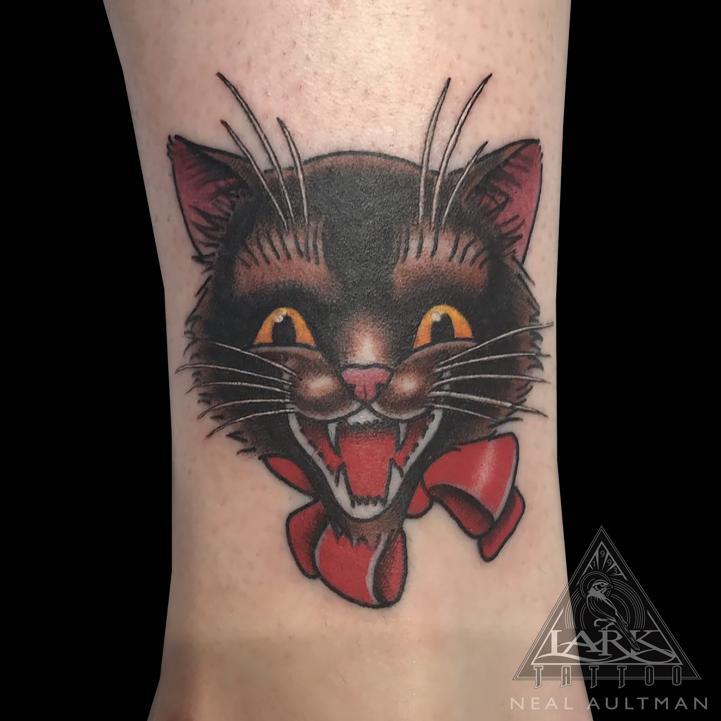 cat, cattattoo, blackcat, blackcattattoo, kitty, kittytattoo, colortattoo, halloween, halloweentattoo, halloweencat, halloweencattattoo, tattoo, tattoos, tat, tats, tatts, tatted, tattedup, tattoist, tattooed, inked, inkedup, ink, tattoooftheday, amazingink, bodyart, tattooig, tattoosofinstagram, instatats , larktattoo, larktattoos, larktattoowestbury, westbury, longisland, NY, NewYork, usa, art
