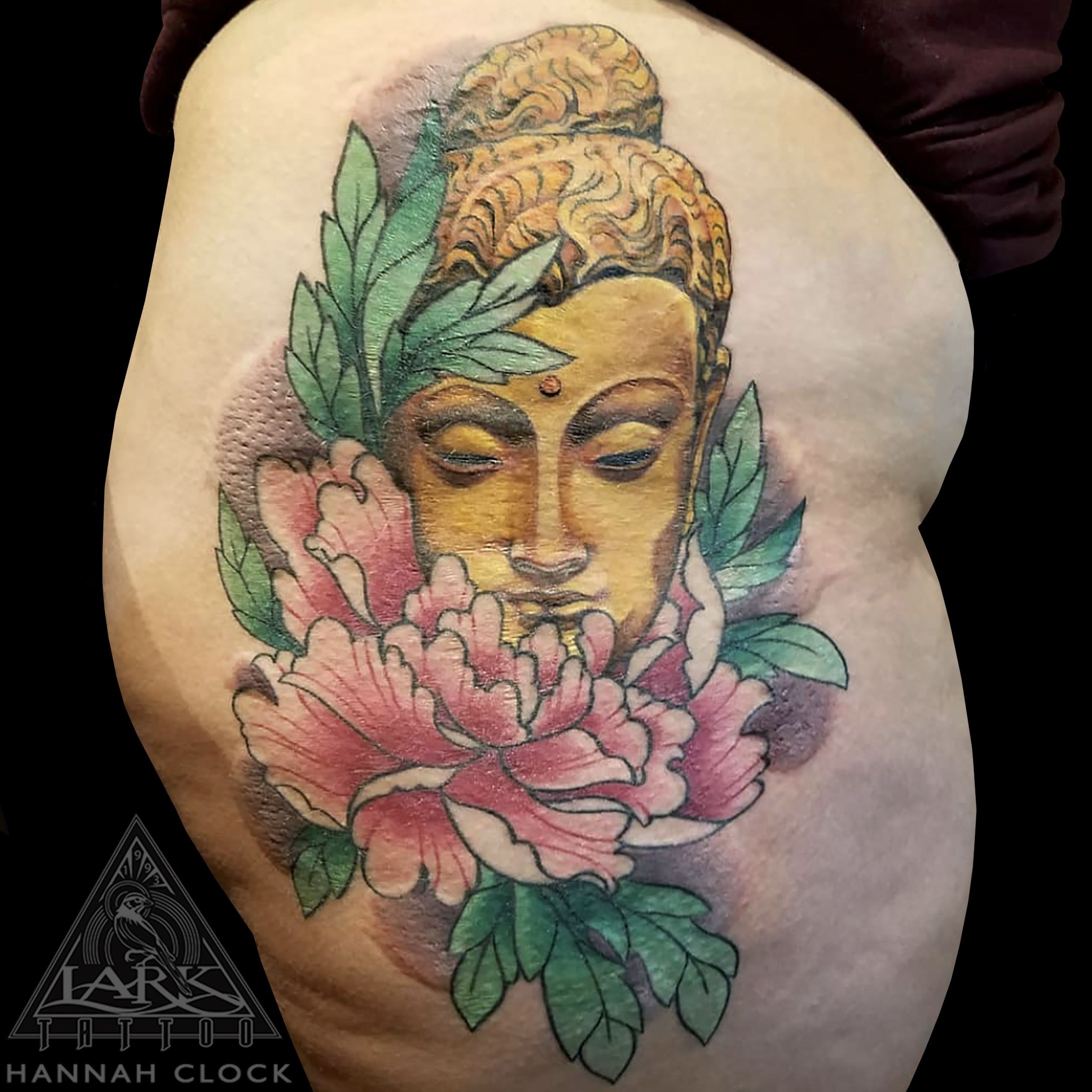 Buddha, BuddhaTattoo, ColorTattoo, HipTattoo, GoldenBuddha, GoldenBuddhaTattoo, Peony, PeonyTattoo, LonIslandTattooArtist, LadyTattooers, FeminineTattoo, FemaleArtist, FemaleTattooArtist, FemaleTattooer, tattoo, tattoos, tat, tats, tatts, tatted, tattedup, tattoist, tattooed, inked, inkedup, ink, tattoooftheday, amazingink, bodyart, larktattoo, larktattoos, larktattoowestbury, westbury, longisland, NY, NewYork, usa, art