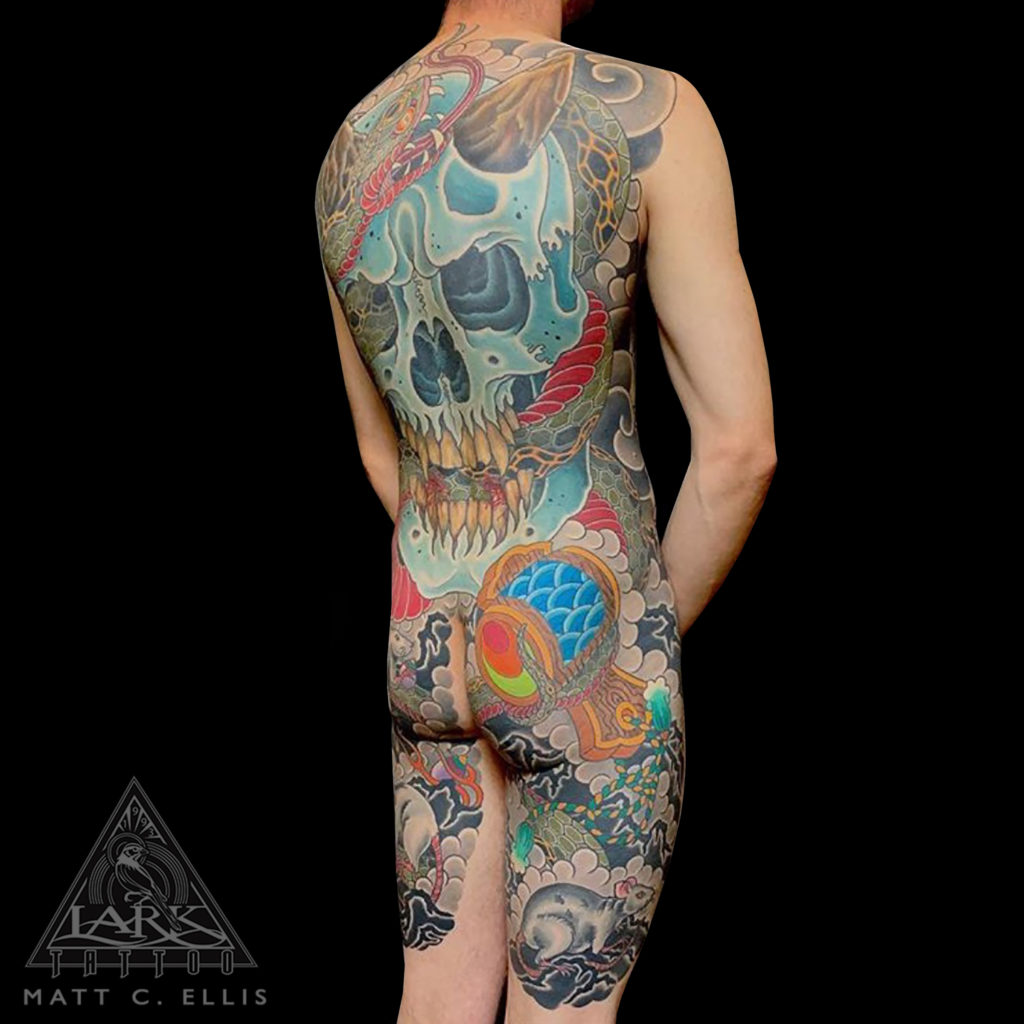 #Japanese #JapaneseTattoo #ColorJapaneseTattoo #JapaneseColorTattoo #ColorTattoo #Skull #SkullTattoo #Snake #SnakeTattoo #Devil #DevilTattoo #Demon #DemonTattoo #Rat #RatTattoo #tattoo #tattoos #tat #tats #tatts #tatted #tattedup #tattoist #tattooed #inked #inkedup #ink #tattoooftheday #amazingink #bodyart #larktattoo #larktattoos #larktattoowestbury #westbury #longisland #NY #NewYork #usa #art