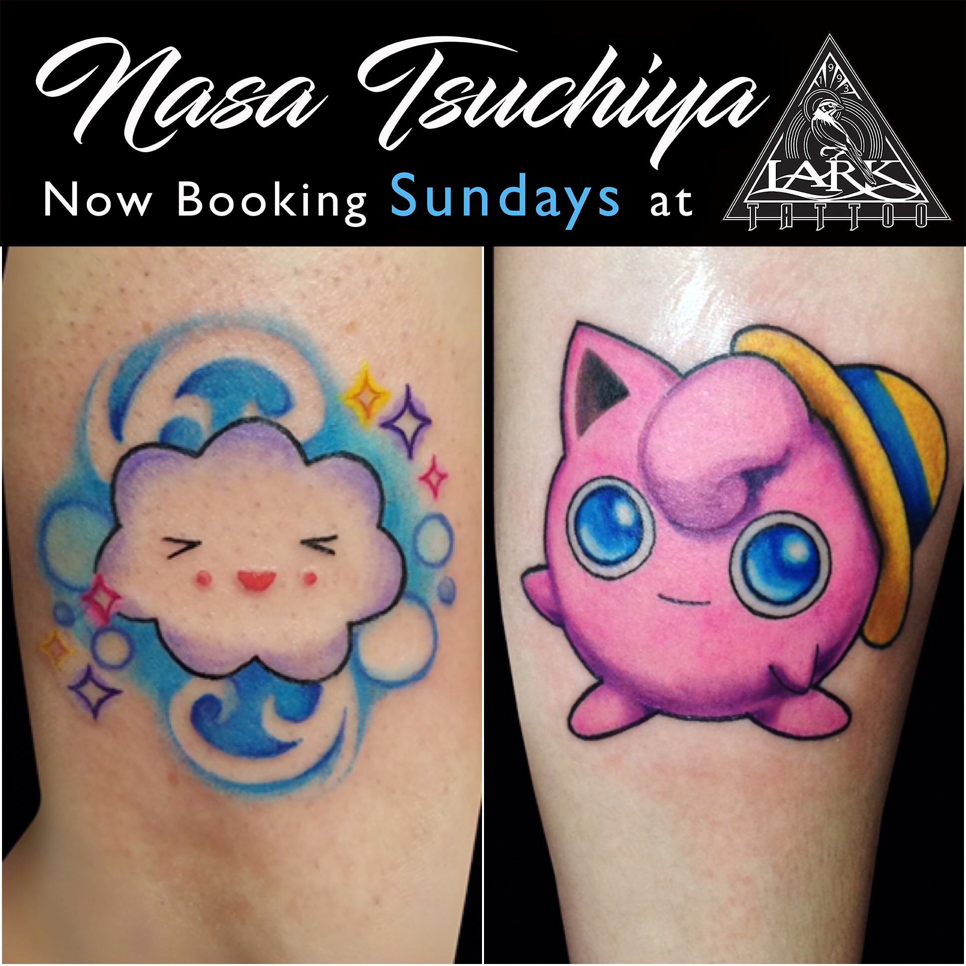 #Jigglypuff #JigglypuffTattoo #Pokemon #PokemonTattoo #TattooThemAll #CatchThemAll #ColorTattoo #CuteTattoo #Cartoon #CartoonTattoo #Cloud #CloudTattoo #FemaleArtist #FemaleTattooer #LadyTattooer #LarkTattoo #tattoos #tat #tats #tatts #tatted #tattedup #tattoist #tattooed #inked #inkedup #ink #tattoooftheday #amazingink #bodyart #larktattoowestbury