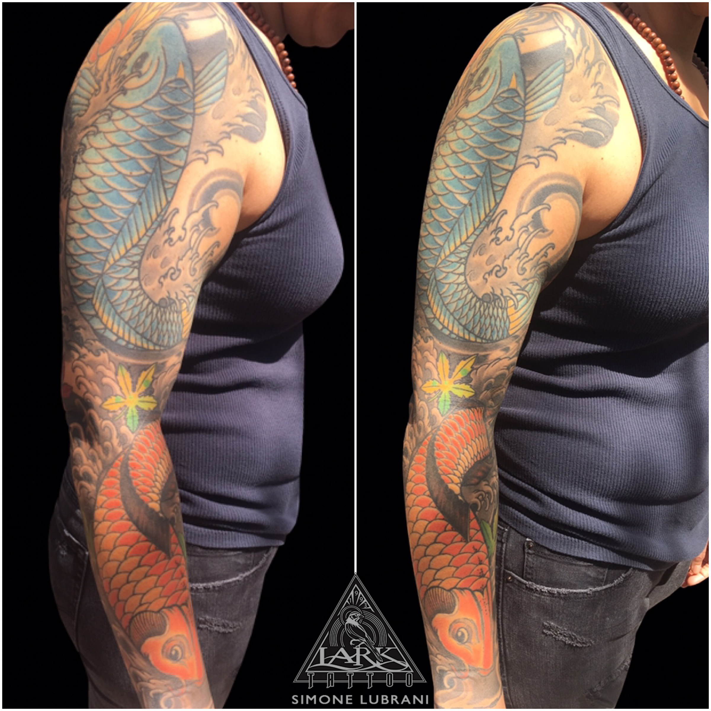 #LarkTattoo #LongIslandTattooer #LongIslandArtist #ColorTattoo #TattooSleeve #JapaneseTattoo #Koi #KoiTattoo #Tattoo #Tattoos #Tat #Tats #Tatts #Tatted #Tattedup #Tattoist #Tattooed #Inked #InkedUp #Ink #TattooOfTheDay #AmazingInk #BodyArt #LarkTattoos #LarkTattooWestbury #Westbury #LongIsland #NY #NewYork #USA #Art