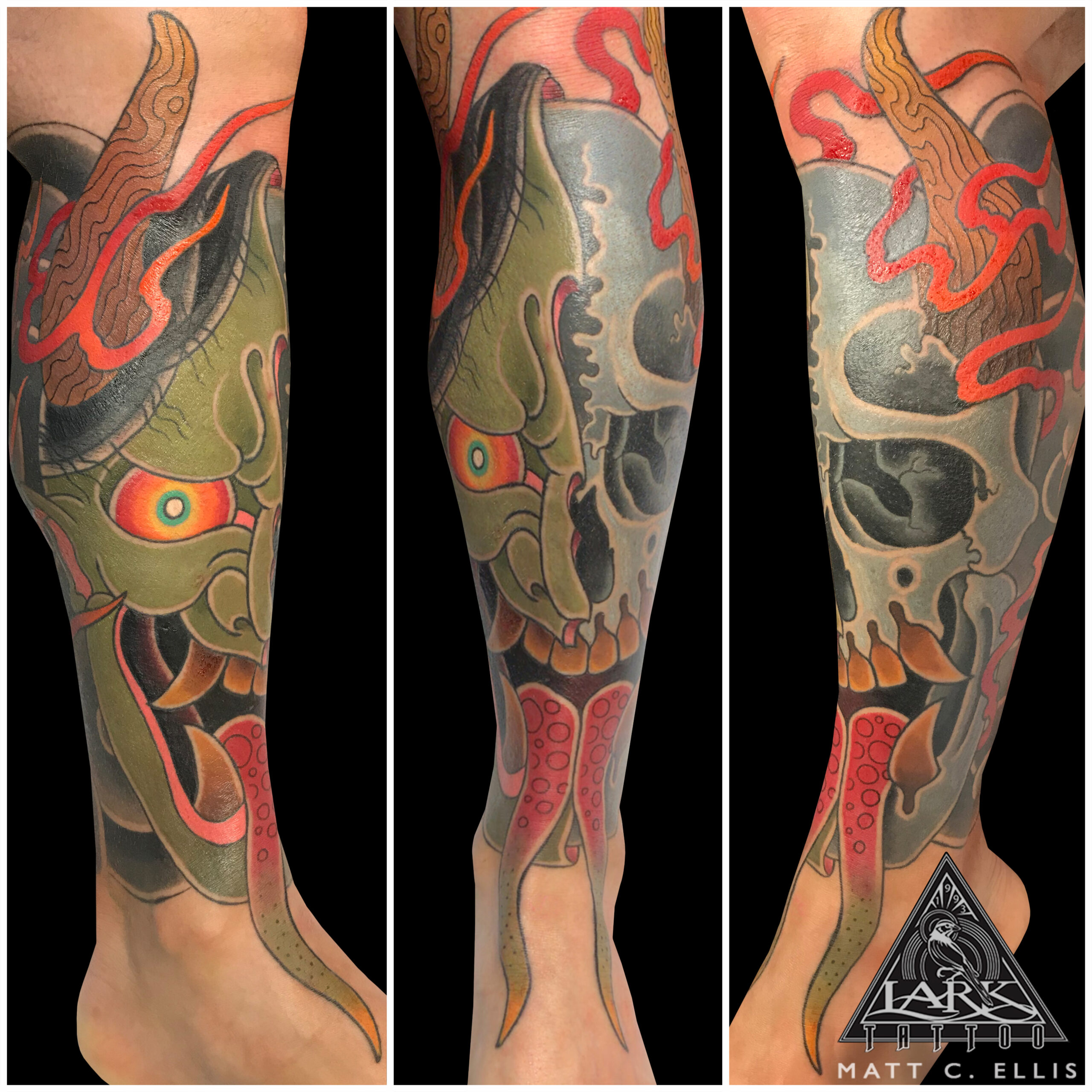 LarkTattoo, Tattoo, Tattoos, JapaneseTattoo, JapaneseArt, Oni, OniTattoo, JapaneseDemon, JapaneseDemonTattoo, JapaneseSkull, JapaneseSkullTattoo, ColorTattoo, JapaneseColorTattoo, JapaneseMask, JapaneseMaskTattoo, Leg, LegTattoo, FireTattoo, TattooArtist, Tattoist, Tattooer, LongIslandTattooArtist, LongIslandTattooer, LongIslandTattoo, TattooOfTheDay, Tat, Tats, Tatts, Tatted, Inked, Ink, TattooInk, AmazingInk, AmazingTattoo, BodyArt, LarkTattooWestbury, Westbury, LongIsland, NY, NewYork, USA, Art, Tattedup, InkedUp, LarkTattoos
