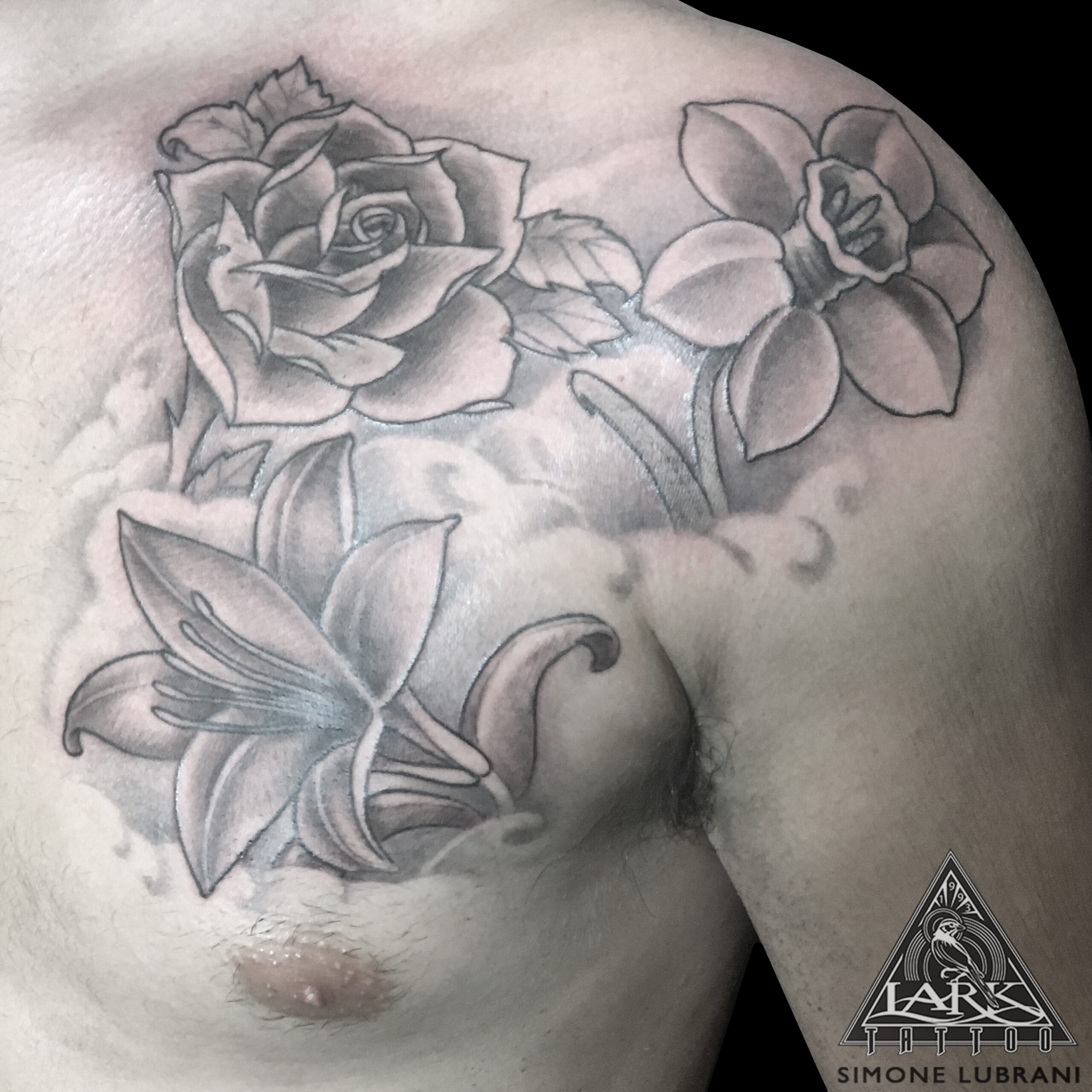 LarkTattoo, SimoneLubrani, SimoneLubraniLarkTattoo, Tattoo, Tattoos, TattooArtist, Tattoist, Tattooer, LongIslandTattooArtist, LongIslandTattooer, LongIslandTattoo, BlackAndGrey, BlackAndGreyTattoo, BlackAndGray, BlackAndGrayTattoo, Flower, FlowerTattoo, Flowers, FlowersTattoo, Lily, LilyTattoo, Rose, RoseTattoo, Daffodil, DaffodilTattoo, illustration, illustrationTattoo, Blackwork, BlackworkTattoo, Blackworkers, BNG, BNGTattoo, BNGInkSociety, TattooOfTheDay, Tat, Tats, Tatts, Tatted, Inked, Ink, TattooInk, AmazingInk, AmazingTattoo, BodyArt, LarkTattooWestbury, Westbury, LongIsland, NY, NewYork, USA, Art, Tattedup, InkedUp, LarkTattoos