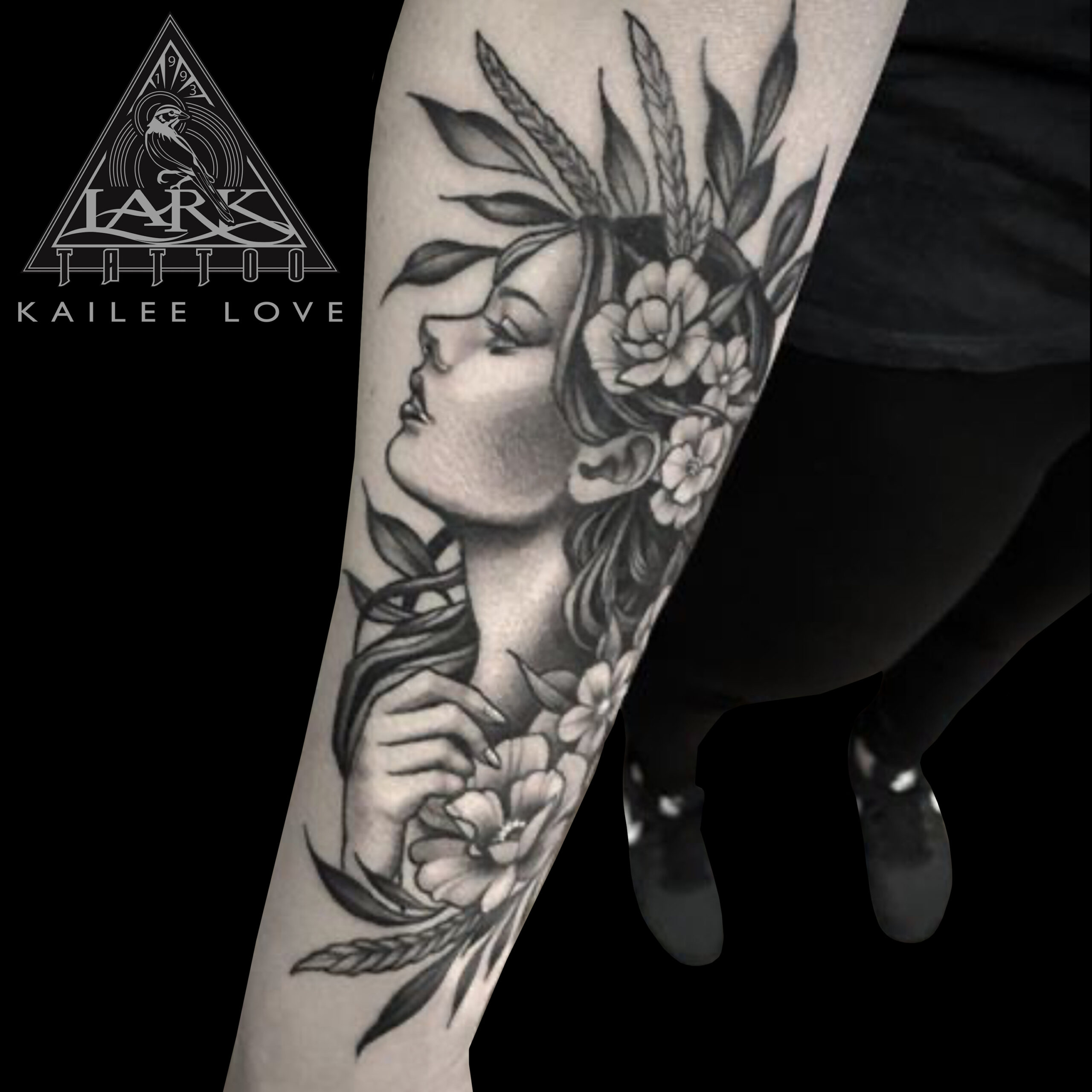 LarkTattoo, KaileeLove, KaileeLoveTattoo, KaileeLoveLarkTattoo, Tattoo, Tattoos, Illustration, IllustrationTattoo, Blackwork, BlackworkTattoo, BlackAndGray, BlackAndGrayTattoo, BlackAndGrey, BlackAndGreyTattoo, Flowers, FlowersTattoo, LadyHead, LadyHeadTattoo, NatureWoman, NatureWomanTattoo, NatureTattoo, FemaleTattooer, FemaleArtist, LadyTattooer, BNG, BNGTattoo, BNKInkSociety, TattooArtist, Tattoist, Tattooer, LongIslandTattooArtist, LongIslandTattooer, LongIslandTattoo, TattooOfTheDay, Tat, Tats, Tatts, Tatted, Inked, Ink, TattooInk, AmazingInk, AmazingTattoo, BodyArt, LarkTattooWestbury, Westbury, LongIsland, NY, NewYork, USA, Art, Tattedup, InkedUp, LarkTattoos
