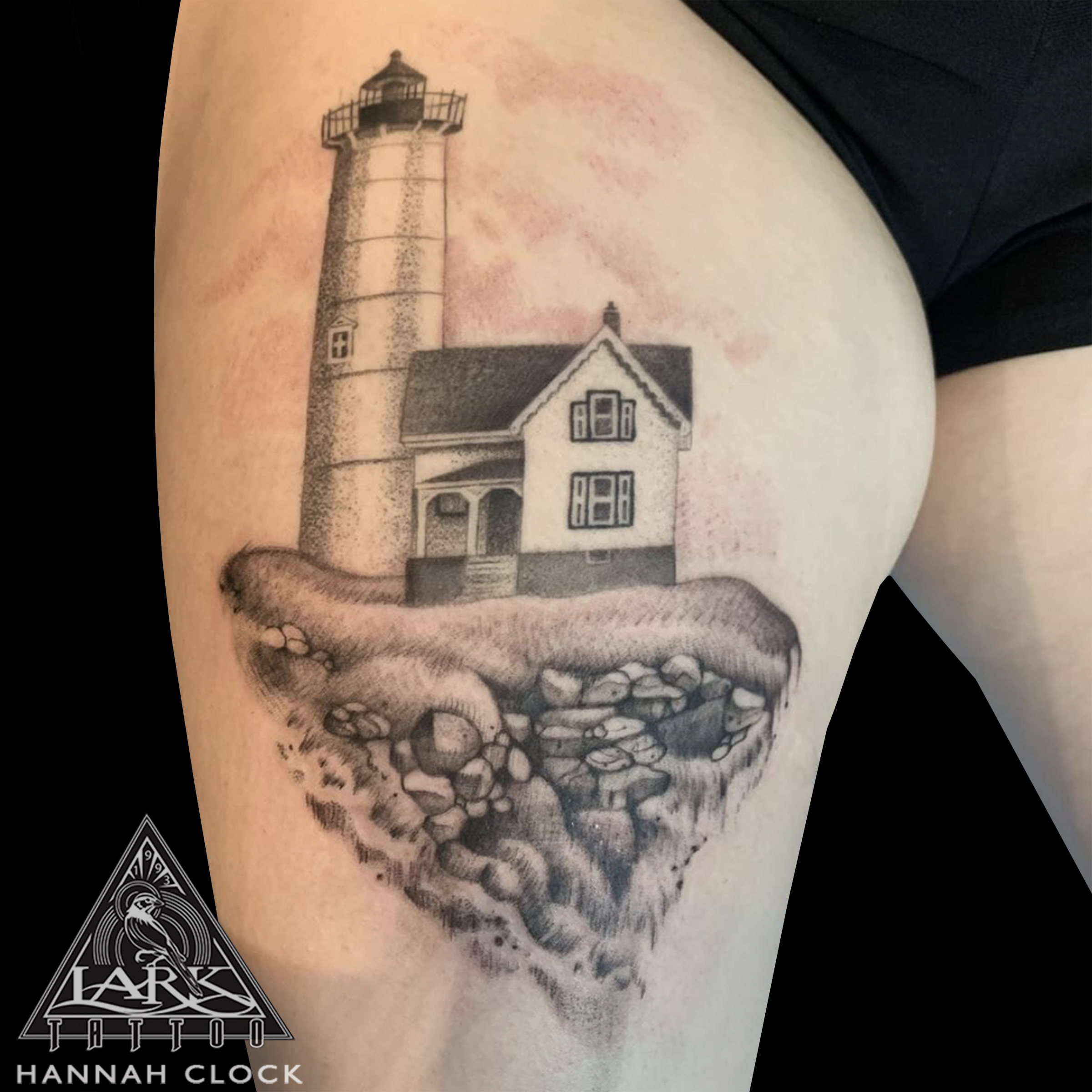 LarkTattoo, HannahClock, HannahClockTattoo, HannahClockLarkTattoo, FemaleTattooer, FemaleArtist, LadyTattooer, Lighthouse, LighthouseTattoo, ThighTattoo, BNG, BNGInkSociety, BNGTattoo, BlackAndGrey, BlackAndGreyTattoo, BlackAndGray, BlackAndGrayTattoo, Tattoo, Tattoos , TattooArtist, Tattoist, Tattooer, LongIslandTattooArtist, LongIslandTattooer, LongIslandTattoo, TattooOfTheDay, Tat, Tats, Tatts, Tatted, Inked, Ink, TattooInk, AmazingInk, AmazingTattoo, BodyArt, LarkTattooWestbury, Westbury, LongIsland, NY, NewYork, USA, Art, Tattedup, InkedUp, LarkTattoos