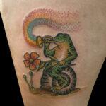 LarkTattoo, NealAultman, NealAultmanLarkTattoo, Tattoo, Tattoos, Frog, FrogTattoo, Snail, SnailTattoo, ColorTattoo, Rainbow, RainbowTattoo, Trumpet, TrumpetTattoo, TraditionalTattoo, TattooArtist, Flower, FlowerTattoo, Tattoist, Tattooer, LongIslandTattooArtist, LongIslandTattooer, LongIslandTattoo, TattooOfTheDay, Tat, Tats, Tatts, Tatted, Inked, Ink, TattooInk, AmazingInk, AmazingTattoo, BodyArt, LarkTattooWestbury, Westbury, LongIsland, NY, NewYork, USA, Art, Tattedup, InkedUp, LarkTattoos