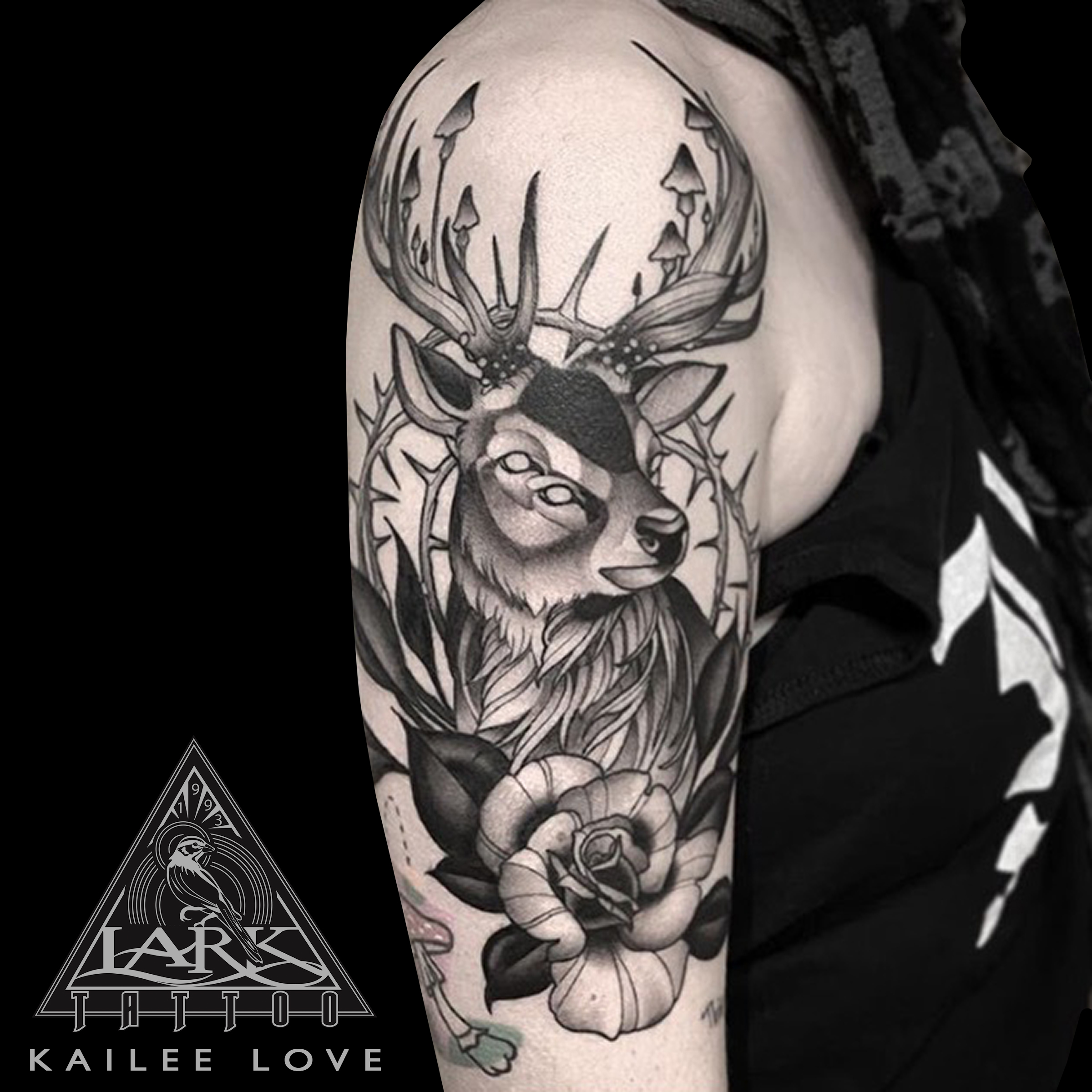 #LarkTattoo #KaileeLove #KaileeLoveLarkTattoo #Tattoo #Tattoos #Deer #DeerTattoo #Animal #AnimalTattoo #Rose #RoseTattoo #Nature #NatureTattoo #Mushroom #MushroomTattoo #BNG #BNGTattoo #BlackAndGray #BlackAndGrayTattoo #BlackAndGrey #BlackAndGreyTattoo #HalfSleeve #HalfSleeveTattoo #TattooArtist #Tattoist #Tattooer #LongIslandTattooArtist #LongIslandTattooer #LongIslandTattoo #TattooOfTheDay #Tat #Tats #Tatts #Tatted #Inked #Ink #TattooInk #AmazingInk #AmazingTattoo #BodyArt #LarkTattooWestbury #Westbury #LongIsland #NY #NewYork #USA #Art #Tattedup #InkedUp #LarkTattoos