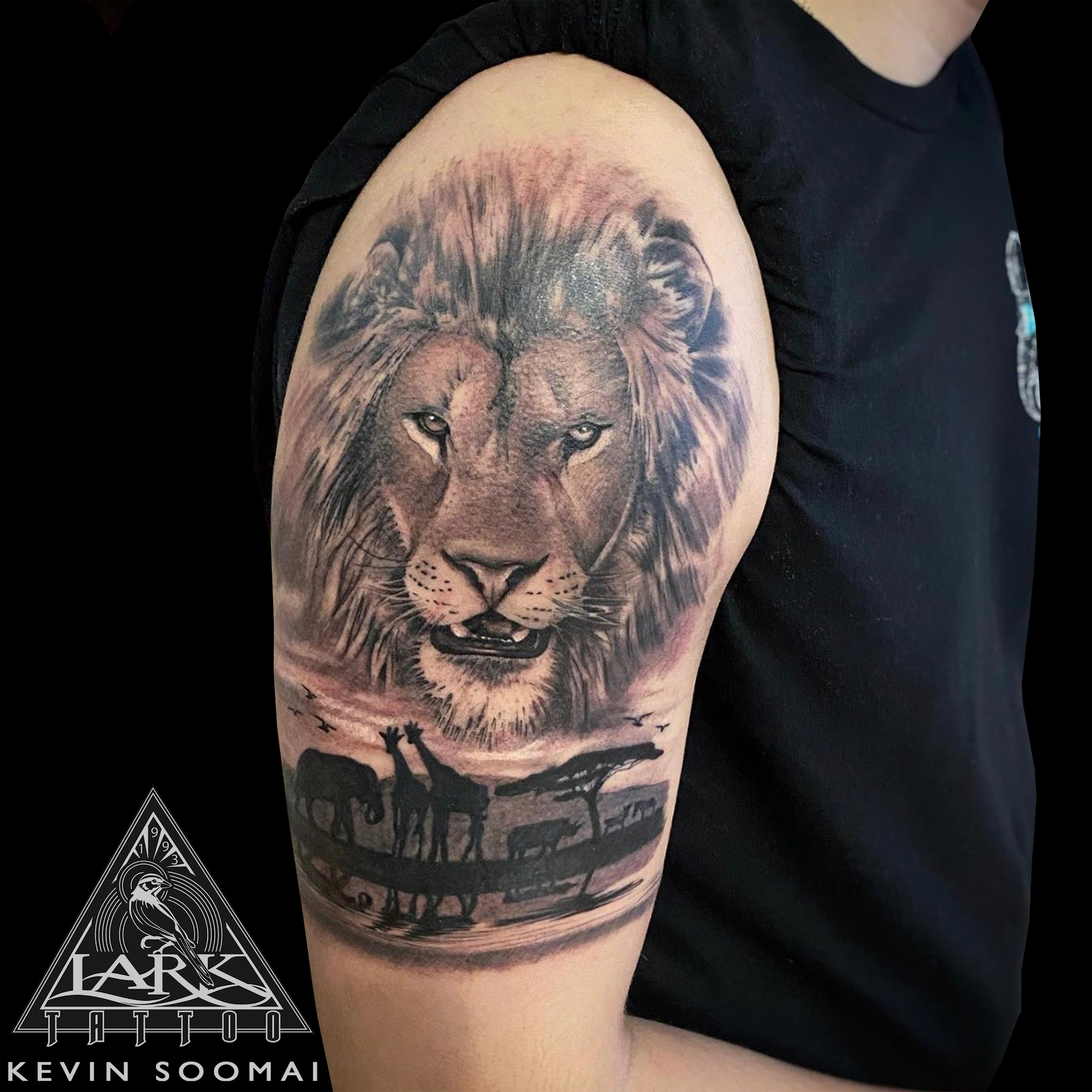 #LarkTattoo #KevinSoomai #KevinSoomaiLarkTattoo #Tattoo #Lion #LionTattoo #Giraffe #GiraffeTattoo #Elephant #ElephantTattoo #Rhino #RhinoTattoo #Zebra #ZebraTattoo #Safari #SafariTattoo #Animal #AnimalTattoo #Nature #NatureTattoo #TattooHalfSleeve #HalfSleeve #HalfSleeveTattoo #Realism #RealismTattoo #Realistic #RealisticTattoo #BNG #BNGTattoo #BlackAndGray #BlackAndGrayTattoo #BlackAndGrey #BlackAndGreyTattoo #BlackAndGrayRealism #BlackAndGrayRealismTattoo #BlackAndGreyRealism #BlackAndGreyRealismTattoo #Tattoos #TattooArtist #Tattoist #Tattooer #LongIslandTattooArtist #LongIslandTattooer #LongIslandTattoo #TattooOfTheDay #Tat #Tats #Tatts #Tatted #Inked #Ink #TattooInk #AmazingInk #AmazingTattoo #BodyArt #LarkTattooWestbury #Westbury #LongIsland #NY #NewYork #USA #Art #Tattedup #InkedUp #LarkTattoos