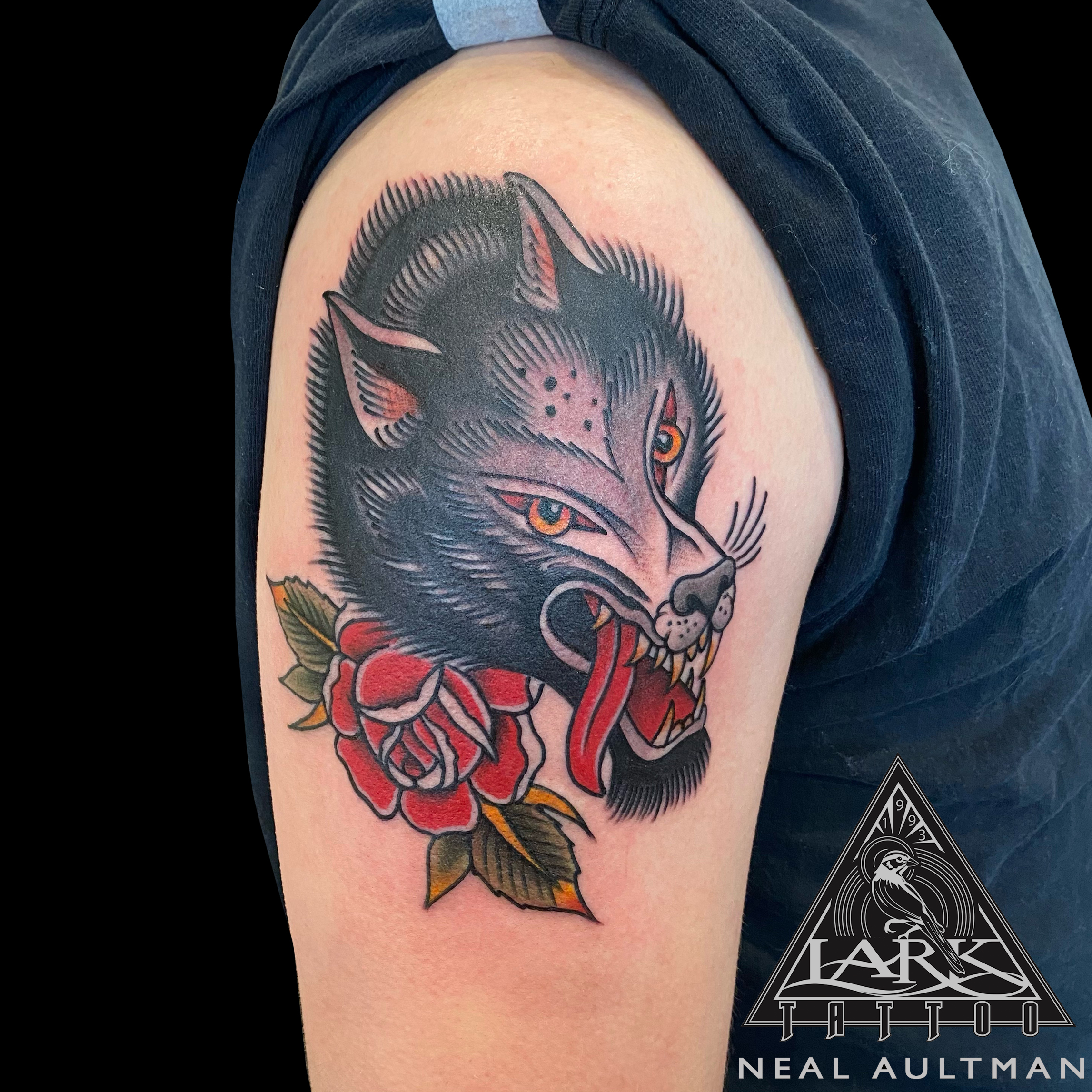 #LarkTattoo #NealAultman #NealAultmanLarkTattoo #Tattoo #Tattoos #Wolf #WolfTattoo #WolfHead #WolfHeadTattoo #Rose #RoseTattoo #Traditional #TraditionalTattoo #ColorTattoo #TattooArtist #Tattoist #Tattooer #LongIslandTattooArtist #LongIslandTattooer #LongIslandTattoo #TattooOfTheDay #Tat #Tats #Tatts #Tatted #Inked #Ink #TattooInk #AmazingInk #AmazingTattoo #BodyArt #LarkTattooWestbury #Westbury #LongIsland #NY #NewYork #USA #Art #Tattedup #InkedUp #LarkTattoos