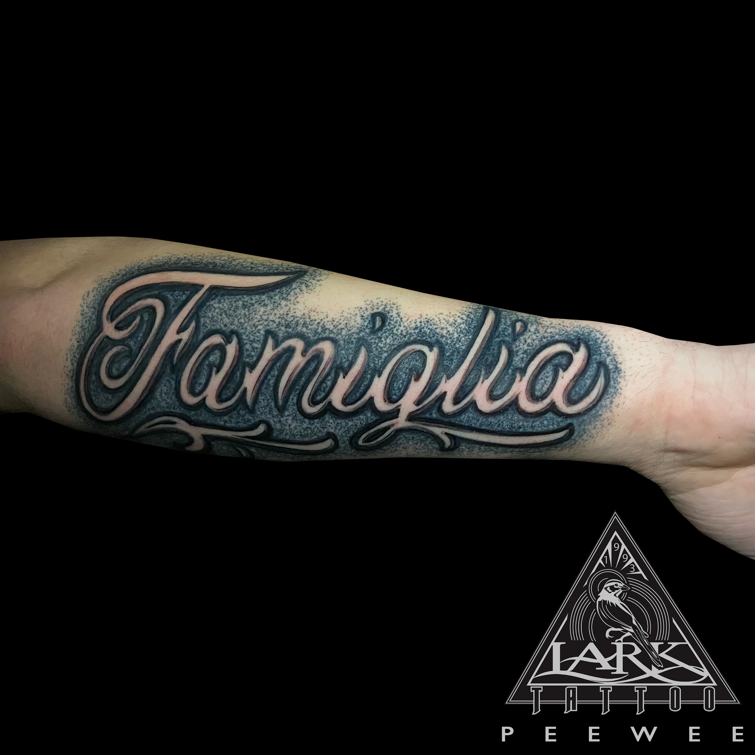 #Famiglia #FamigliaTattoo #Family #FamilyTattoo #Lettering #LetteringTattoo #Script #ScriptTattoo #BNG #BNGTattoo #BlackAndgGrey #BlackAndgGreyTattoo #BlackAndGray #BlackAndGrayTattoo #LarkTattoo #PeeWee #PeeWeeLarkTattoo #AnthonyPeeWeeSinerco #AnthonySinerco #Tattoo #Tattoos #TattooArtist #Tattoist #Tattooer #LongIslandTattooArtist #LongIslandTattooer #LongIslandTattoo #TattooOfTheDay #Tat #Tats #Tatts #Tatted #Inked #Ink #TattooInk #AmazingInk #AmazingTattoo #BodyArt #LarkTattooWestbury #Westbury #LongIsland #NY #NewYork #USA #Art #Tattedup #InkedUp #LarkTattoos