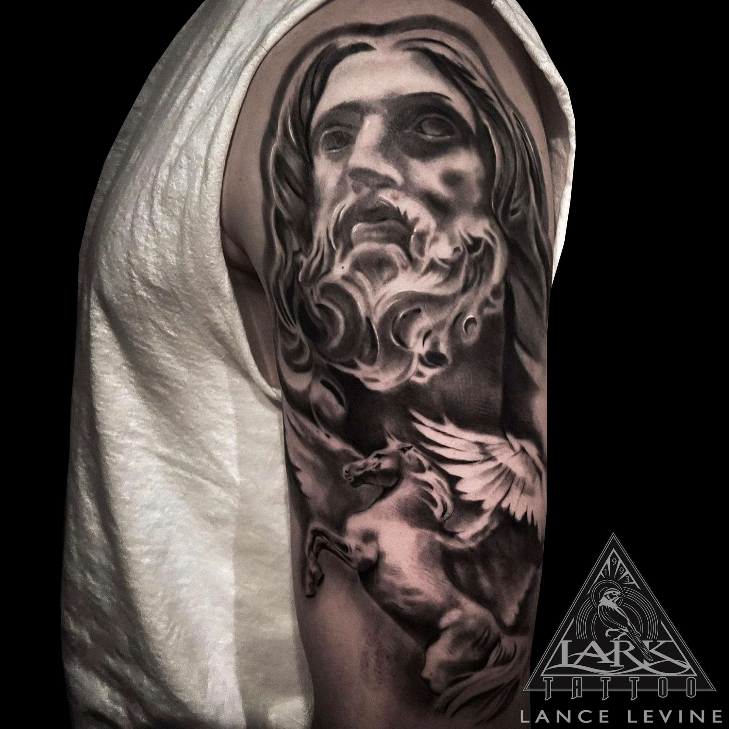 #LarkTattoo #Tattoo #Tattoos #LanceLevine #LanceLevineLarkTattoo #GreekTattoo #Zeus #ZeusTattoo #Pegasus #PegasusTattoo #Mythology #MythologyTattoo #Mythological #MythologicalTattoo #GreekGod #GreekGodTattoo #Realistic #RealisticTattoo #Realism #RealismTattoo #BlackAndGray #BlackAndGrayTattoo #BlackAndGrey #BlackAndGreyTattoo #BNG #BNGTattoo #BNGInkSociety #BishopWand #BishopWandTattoo #SolidInk #TattooArtist #Tattoist #Tattooer #LongIslandTattooArtist #LongIslandTattooer #LongIslandTattoo #TattooOfTheDay #Tat #Tats #Tatts #Tatted #Inked #Ink #TattooInk #AmazingInk #AmazingTattoo #BodyArt #LarkTattooWestbury #Westbury #LongIsland #NY #NewYork #USA #Art #Tattedup #InkedUp #LarkTattoos
