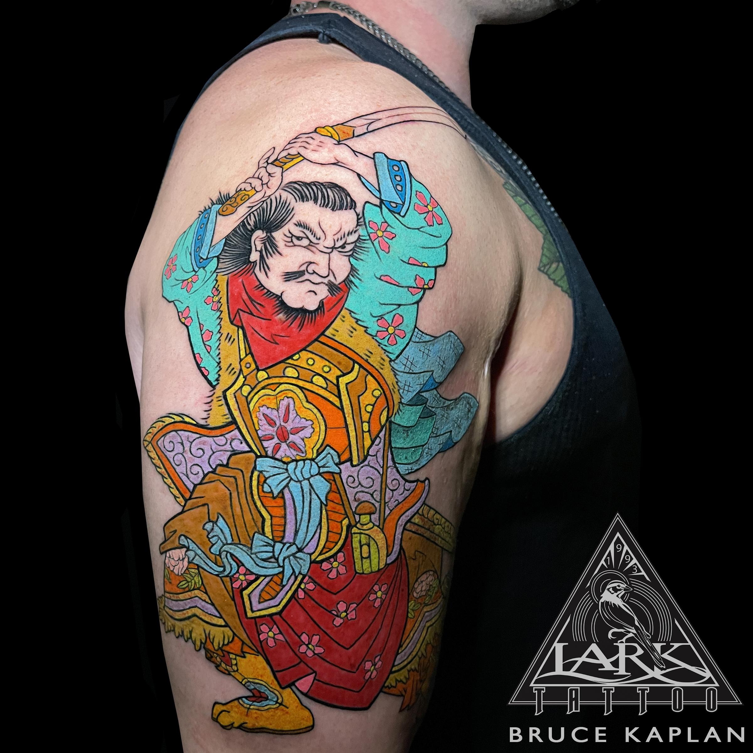 #LarkTattoo #BruceKaplan #BruceKaplanLarkTattoo #Tattoo #Tattoos #Japanese #JapaneseTattoo #ColorTattoo #ArmTattoo #BicepTattoo #LargeTattoo #BoldColorTattoo #ColorbombTattoo #Samurai #SamuraiTattoo #Katana #KatanaTattoo #Bushido #BushidoTattoo #Kenjutsu #KenjutsuTattoo #Iaido #IaidoTattoo #TattooArtist #Tattoist #Tattooer #LongIslandTattooArtist #LongIslandTattooer #LongIslandTattoo #LarkTattooWestbury #TattooOfTheDay #Tat #Tats #Tatts #Tatted #Inked #Ink #TattooInk #AmazingInk #AmazingTattoo #BodyArt #Westbury #LongIsland #NY #NewYork #USA #Art #Tattedup #InkedUp #LarkTattoos